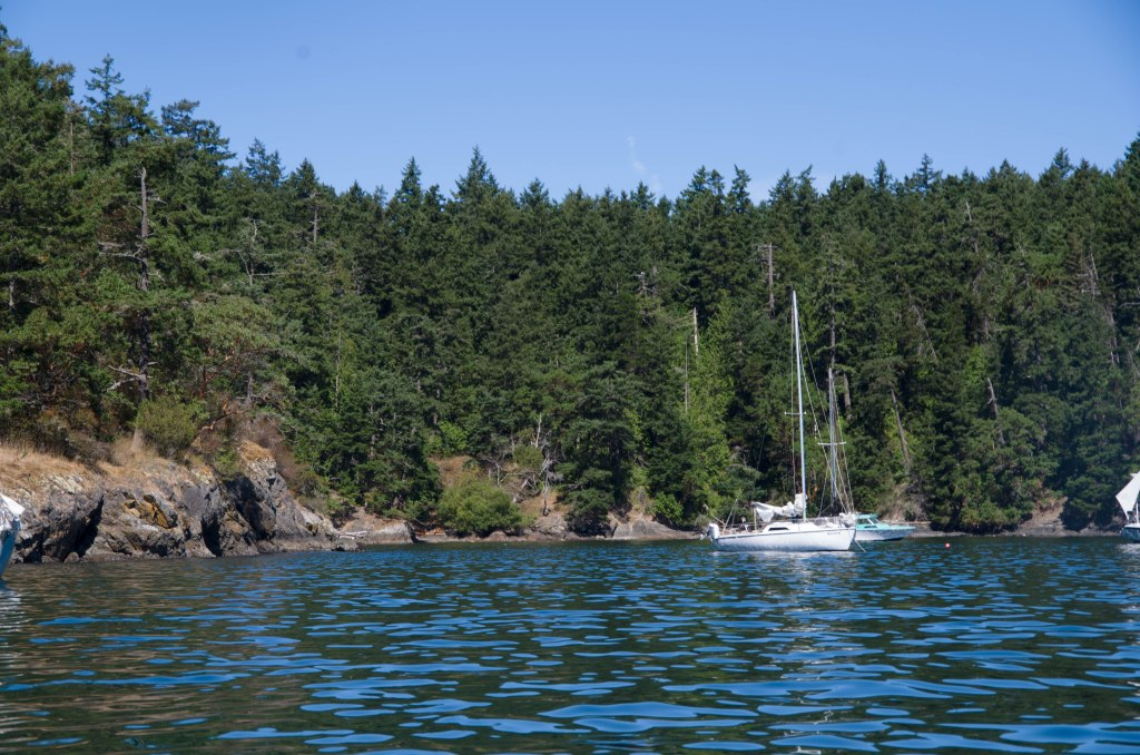 'Recess' at anchor in Friday Harbor