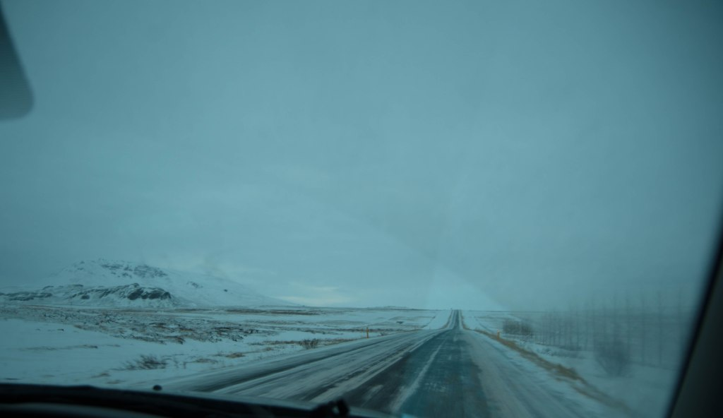 Thankfully, the roads were mostly plowed by then