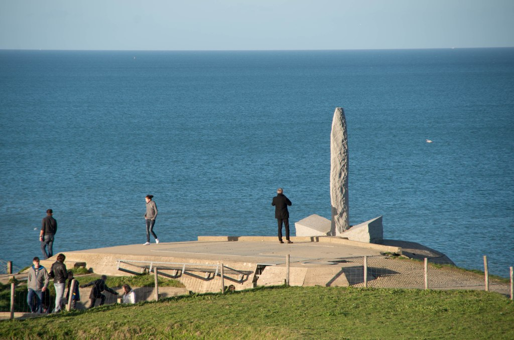The bravery, heroism, and sacrifice of the Rangers at Pointe du Hoc has been memorialized with an enormous phallus.
